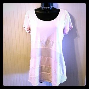 NWT!Sz S Light Pink, Semi Sheer Long Top